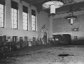 Interior of the Union Pacific Railroad depot after a flood