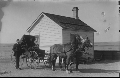 Charles and Anne Pratt Taylor at their ranch south of Hoxie, Kansas