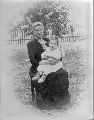 Mrs. Christopher McGuire and daughter Clara, Studley, Sheridan County, Kansas - 1