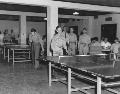 Playing table tennis, Junction City, Kansas