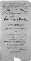Conventions of the Peoples' Party, Wichita, Kansas - 3