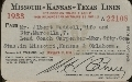 Missouri- Kansas -Texas Railroad passes