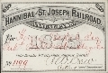 Hannibal & St. Joseph Railroad passes