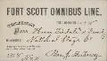 Mail and stagecoach passes - Fort Scott Omnibus Line expiration No. 8 December 31,1878