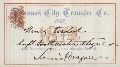 Mail and stagecoach passes - Kansas City Transfer Co. Pass expiration December 31, 1874