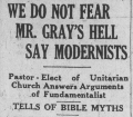 We Do Not Fear Mr. Gray's Hell say Modernists!