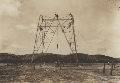 Building John R. Brinkley's radio tower, Villa Acuna, Mexico