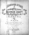Standard atlas, Dickinson County, Kansas - Title Page