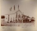 John Christoph photograph album - Members of a hunting club near Salt Marsh, Barton County, Kansas.