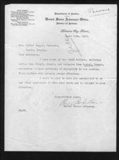 Governor Arthur Capper's slackers file - 2