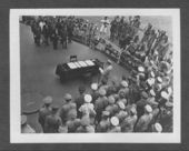 United States and Japanese officials signing the surrender document ending World War II - 6