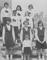 East Topeka Jr. High Cheerleaders, 1966-67.