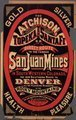 The Atchison, Topeka and Santa Fe R.R. is the only direct route to the famous San Juan mines in South Western Colorado . . .