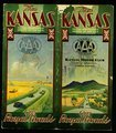 Folks who live in Kansas present this booklet and guide so that you may see their wonderful state . . . - Front Cover