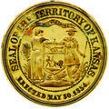 Kansas territorial seal embossing stamp