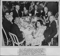 Dr. Karl Menninger - This was taken at the banquet of the APA meeting May 11, 1955.  Seated at the table are Dr. Karl, Jean, Dr. Iago Galdston, Dr. George Jackson, Mrs. Bernice Engle, Dr. Murray Bowen, Mrs. Bowen, Dr. Alfred Bay, Dr. Joseph Satten and Mrs Satten.