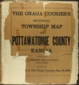The Onaga courier's sectional township map of Pottawatomie County, Kansas - Title Page