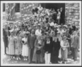 Menninger photograph collection - A photograph of the officers, teachers and students of the First Presbyterian Bible School, taken by Wolfe