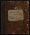 Samuel Reader's diary, volume 2 - Front Cover