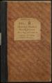 Samuel Reader's diary, volume 8 - Front Cover
