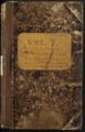 Samuel Reader's diary, volume 7 - Front Cover