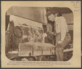 Carey Salt Company operations - *15 Photograph, with caption, of S.B. Hurrell cutting salt