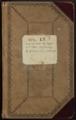 Samuel Reader's diary, volume 13 - Front Cover