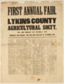First Annual Fair of the Lykins County Agricultural Society