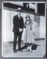 Virgil and Della Barnes - This is an International Newsreel photo of Virgil and Della taken outdoors at a stadium venue. (*23)