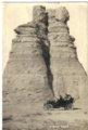 Edwin Boyer and family members at Castle Rock in Gove County, Kansas