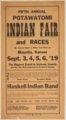 Fifth annual Potawatomi Indian fair and races