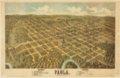 Bird's eye view of Paola, Miami County, Kansas