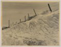 John Wesley McManigal photographs - Photograph showing snow drifted along a fence.