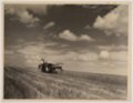 John Wesley McManigal photographs - Photograph showing a farmer harvesting wheat.