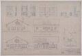 Drawings of Atchison, Topeka & Santa Fe Railway's emergency hospital for shop employees at San Bernardino, California - 2
