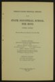 Biennial report of the Boys Industrial School, 1932 - 1