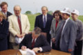Governor Graves signing the Comprehensive Transportation Program bill