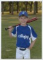 Aidan Ives and the Midget 9 Blue Jays baseball team in Topeka, Kansas - Aidan in Blue Jays uniform, 2012.