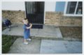 Gavin Berberich playing baseball - Playing with bat at age 2.