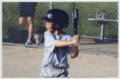 Gavin Berberich playing baseball - Batting for the Sharks team.