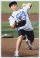 Gavin Berberich playing baseball - First pitch at Omaha Storm Chasers game, 2013.