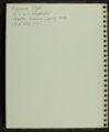 Ray Etzel baseball scrapbook - 2 [Inside Front Cover]