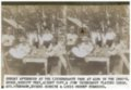 Gus Meier photograph collection - Stereoview card showing a group of men playing cards and drinking beverages at Liederkranz Park in Alma, Kansas.