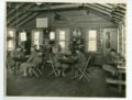 The reading corner of the YMCA at Camp Funston