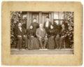 John Winkler and his children at Denver House hotel in McFarland, Kansas - 1