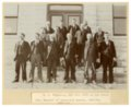 County officials on courthouse steps in Alma, Kansas