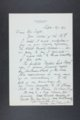 Robert Taft correspondence related to frontier artists, Adams - Blakelock - 2