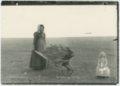 Ada and Burt McColl gathering buffalo chips