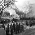Firing cannons on the state capitol grounds for Governor George Docking's inauguration