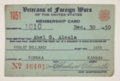 Abel Alcala's VFW Membership Card